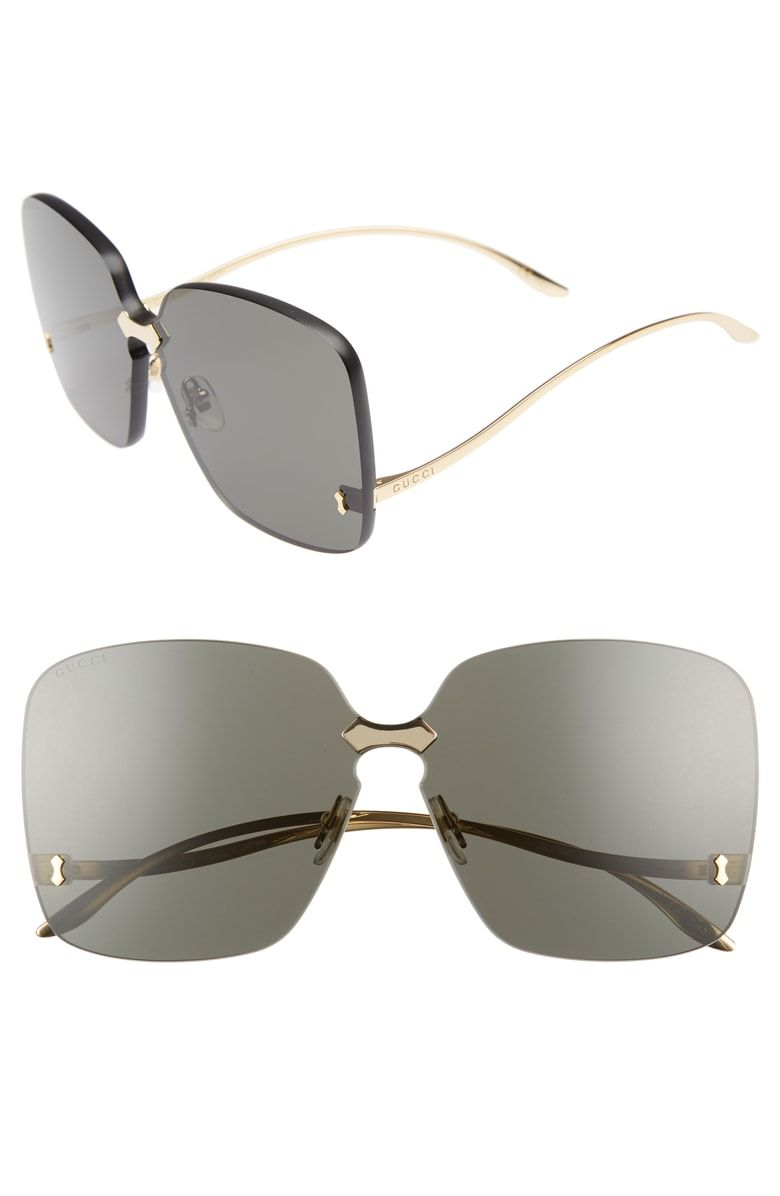 9defd0395a76 Free shipping and returns on Gucci 99mm Rimless Sunglasses at  Nordstrom.com. A metal-tipped keyhole bridge adds a touch of distinction to  sleek, ...