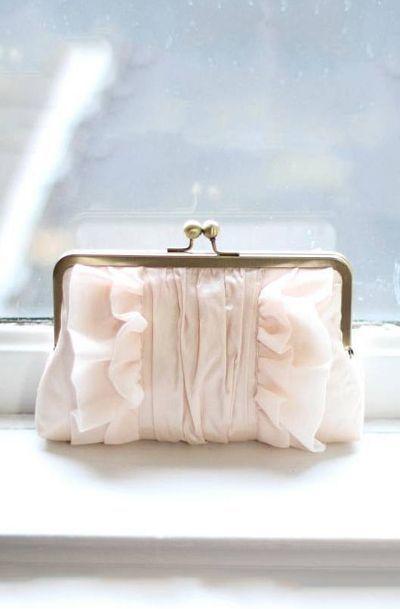 Flutter Clutch: Blush Silk