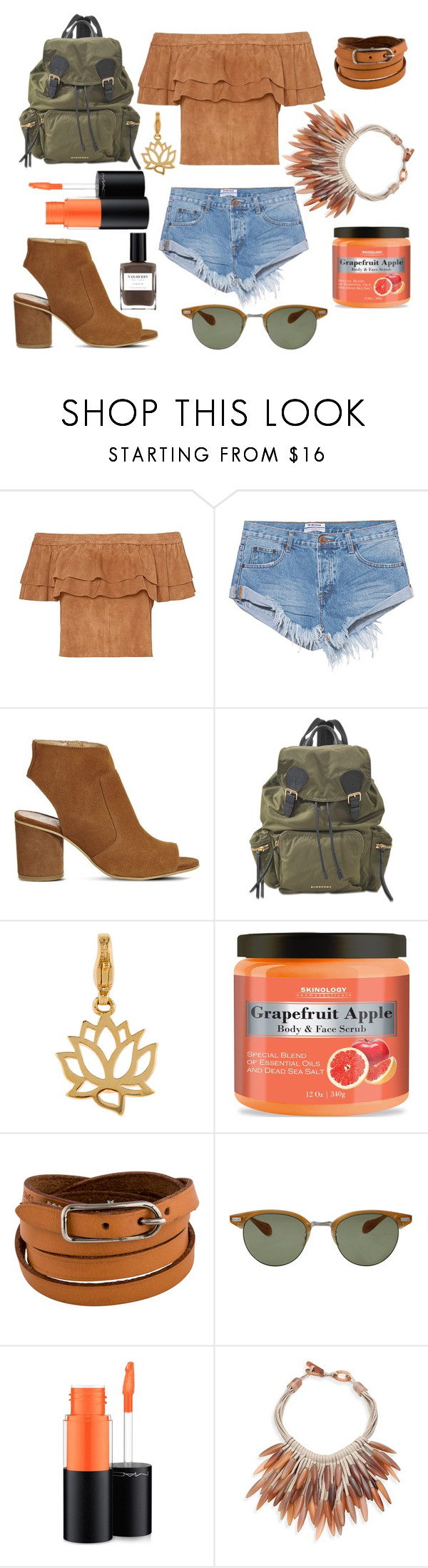 """* SEARCHING FOR ADVENTURES by bOO *"" by boo-sandra on Polyvore featuring One Teaspoon, Office, Burberry, Accessorize, Hermès, Oliver Peoples, MAC Cosmetics, Nest and Nailberry"