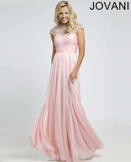 Pink pleated empire waist dress 98756 - Prom Dresses | Dress to ...