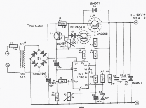 Bench Power Supply Circuit Diagrams Schematics Electronic Projects