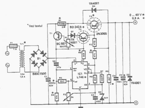 0 to 40v lab power supply