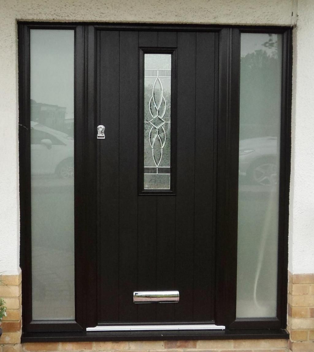 Flint 4 With Royale Glass Design Composite Door Rehau