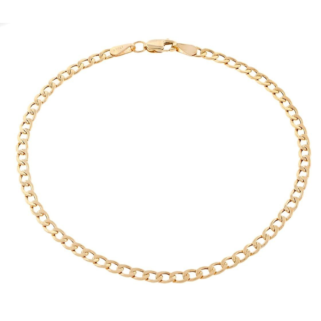 22a371a05 Pori Men's 10k Gold Cuban Chain Bracelet (Yellow), Size: 8 Inch ...