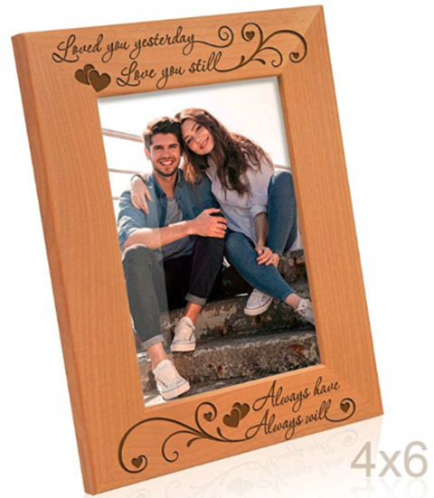b686628513872 Kate Posh Natural Wood Picture Frame Heartfelt Gifts for Him ...