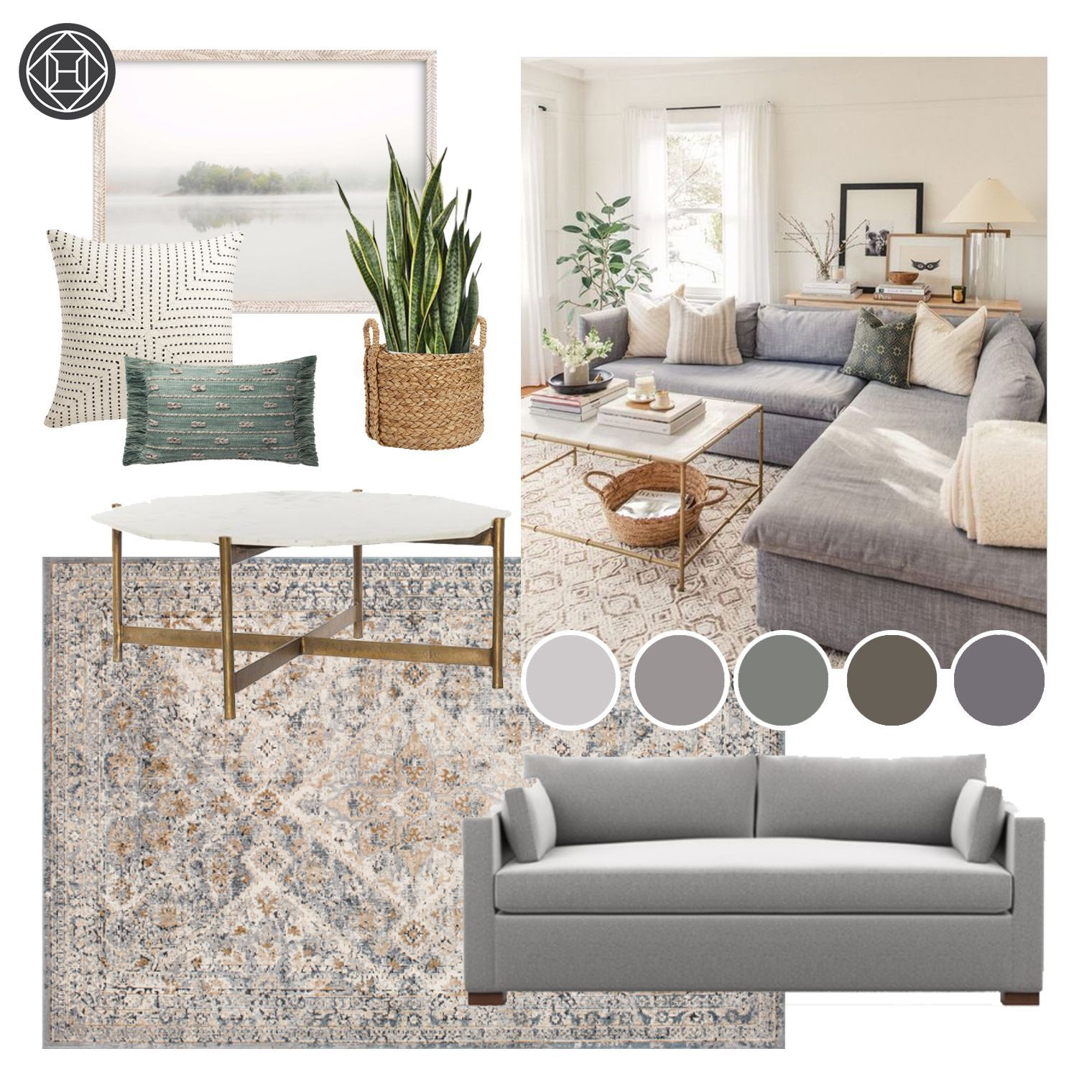 Untitled in 7  Havenly living room, Transitional living room