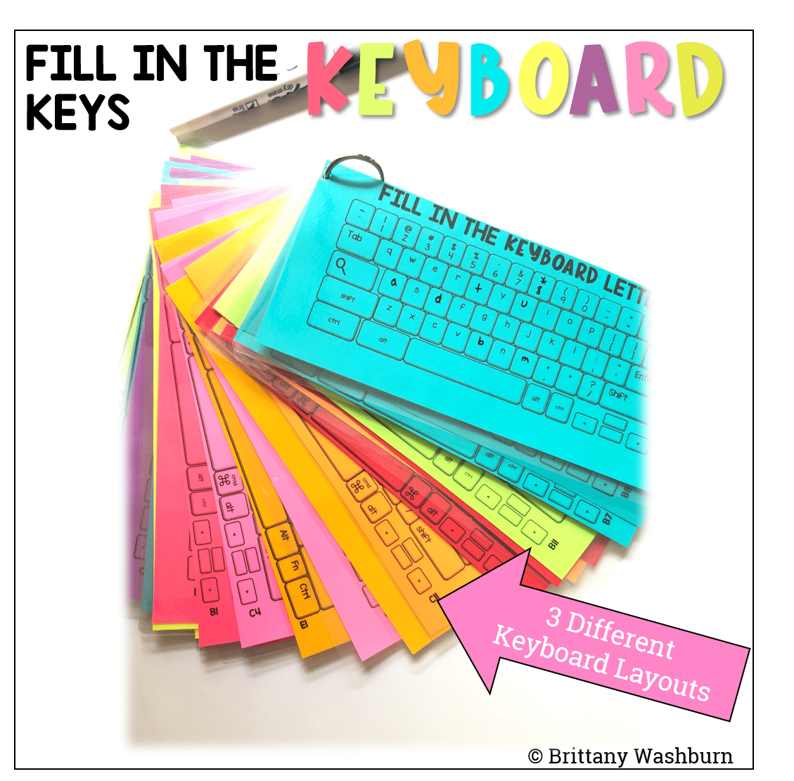 Fill In The Keyboards Unplugged Task Cards In