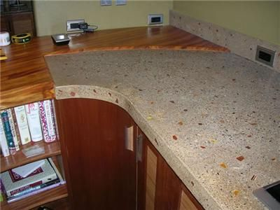 Good For When I Convince Troy To Pour Me Concrete Countertops. | New Kitchen |  Pinterest | Concrete Countertops, Decorative Glass And Cou2026