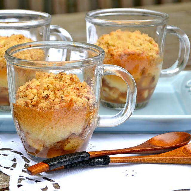 Apple Crumble Pudding in a Mug
