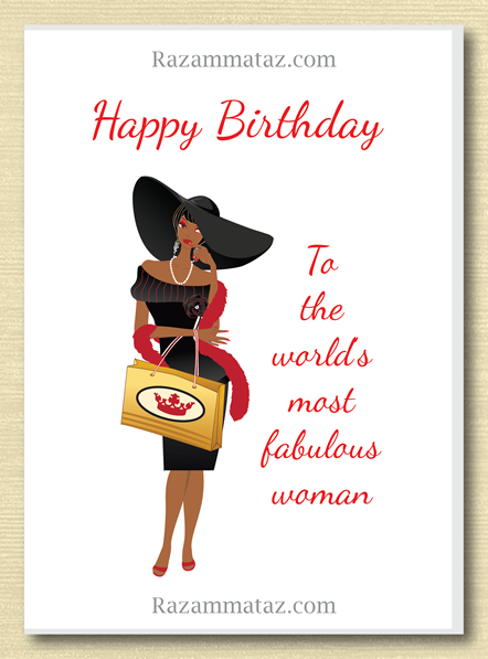African American Female Birthday C With Images Birthday Cards