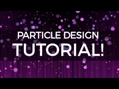 After Effects Creating Abstract Particle Backgrounds Tutorial