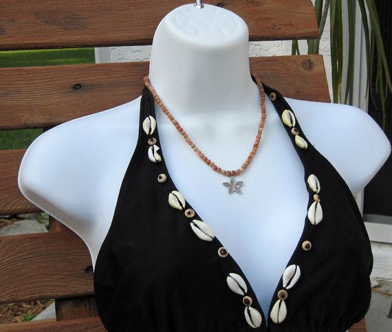 Sunstone Hill Tribe flower necklace Beach Summer by alanabobanna