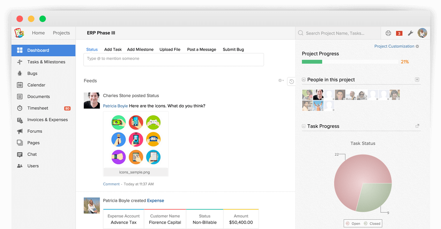 Zoho Projects Online Project Management Software