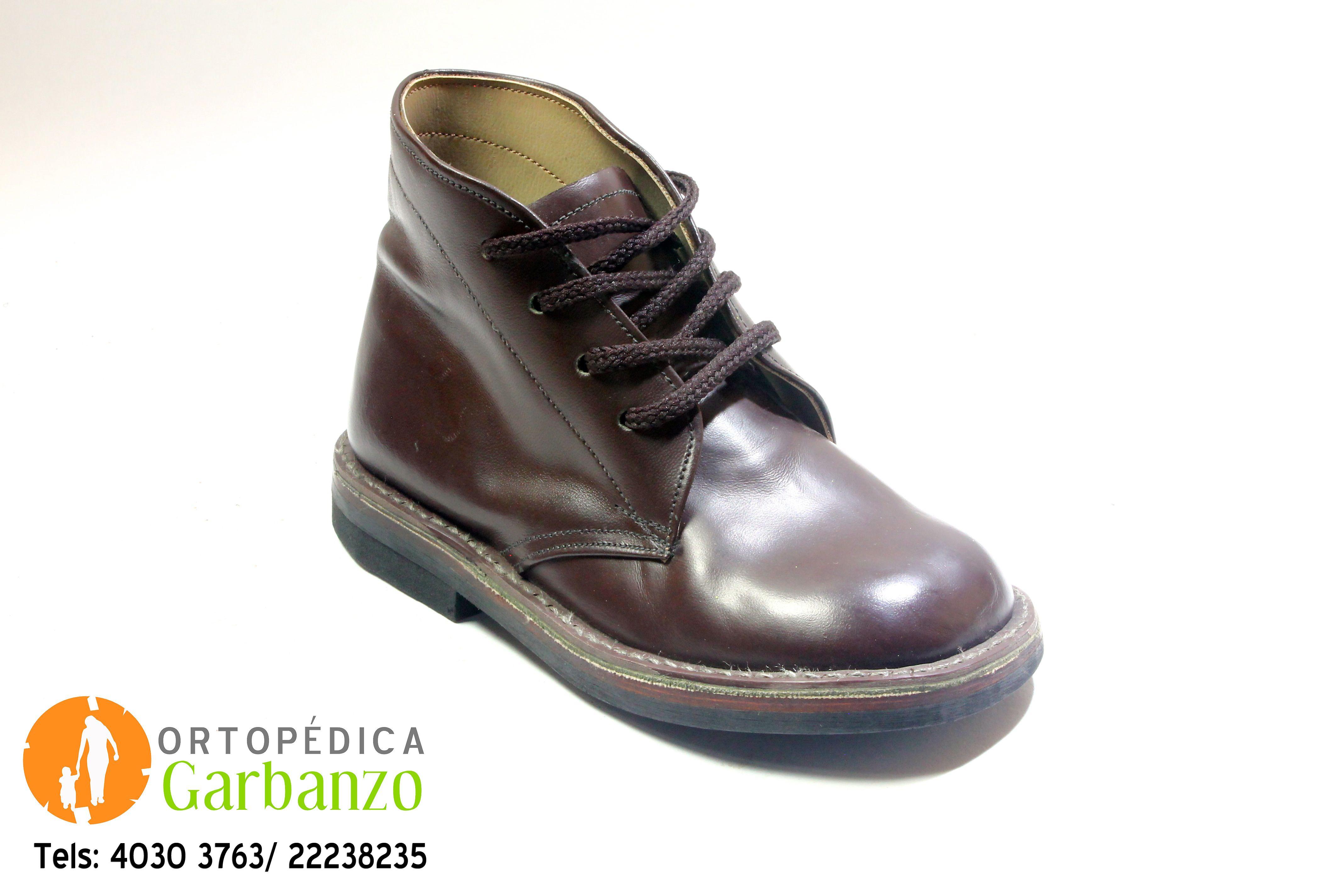 52b30ee13 BOTA ORTOPÉDICA PARA NIÑO. Color Café Cuero. | Zapatos Ortopédicos ...