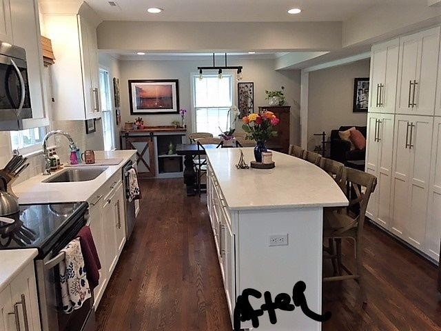 Ashtree Kitchen   After We Removed The Wall, Installed White Shaker  Cabinets, Hardwood Flooring