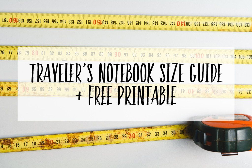 Guide to Traveler's Notebook Sizes