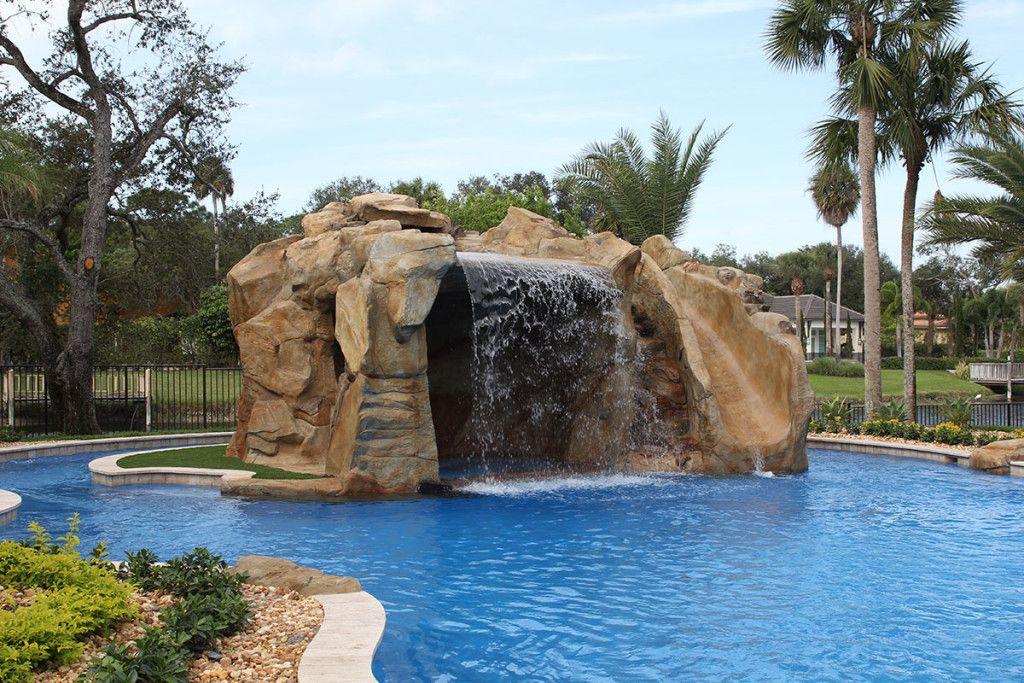 Rock Waterfalls Luxury Pool Builder