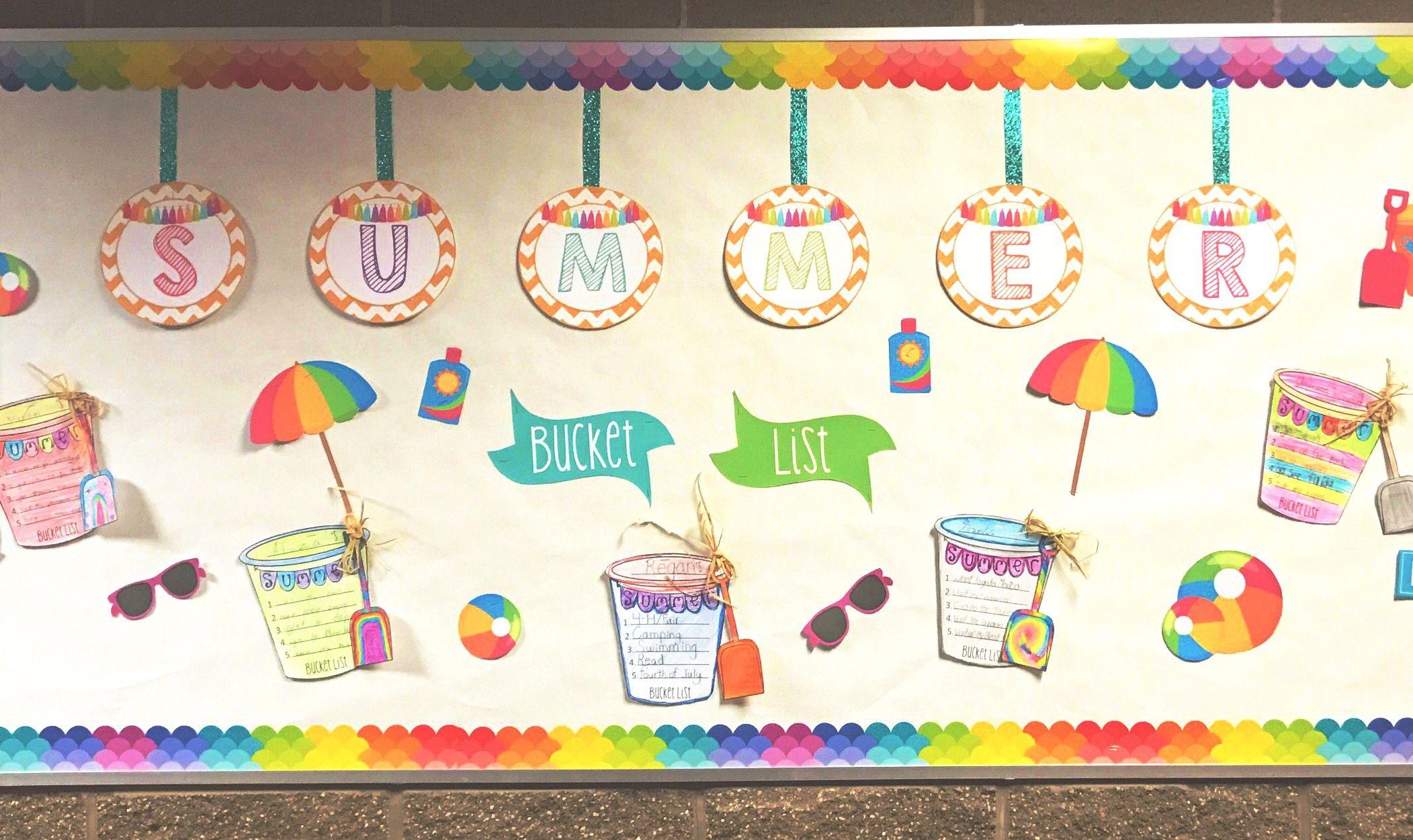 Summer End Of Year Bulletin Board Kit Summer Bucket List