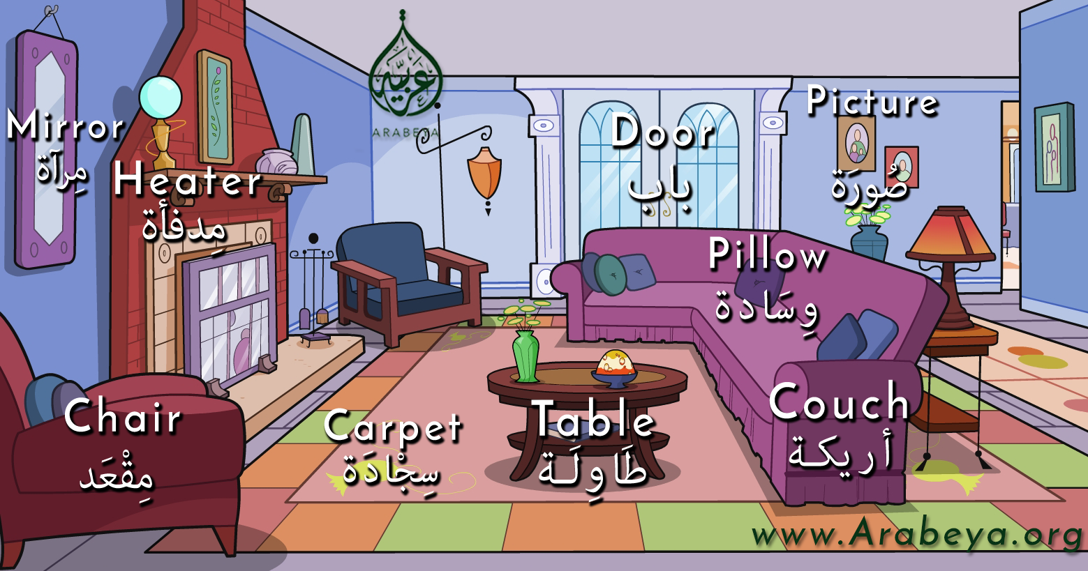 Furniture In Arabic Language