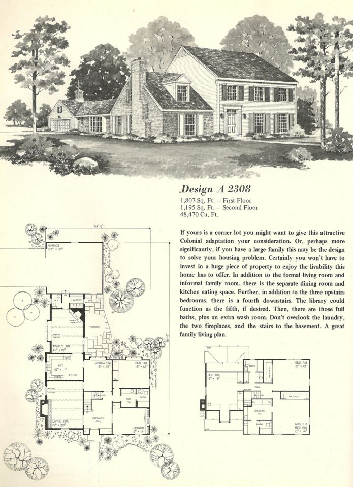 Vintage House Plans 2308 Vintage House Plans Vintage House Early American Homes