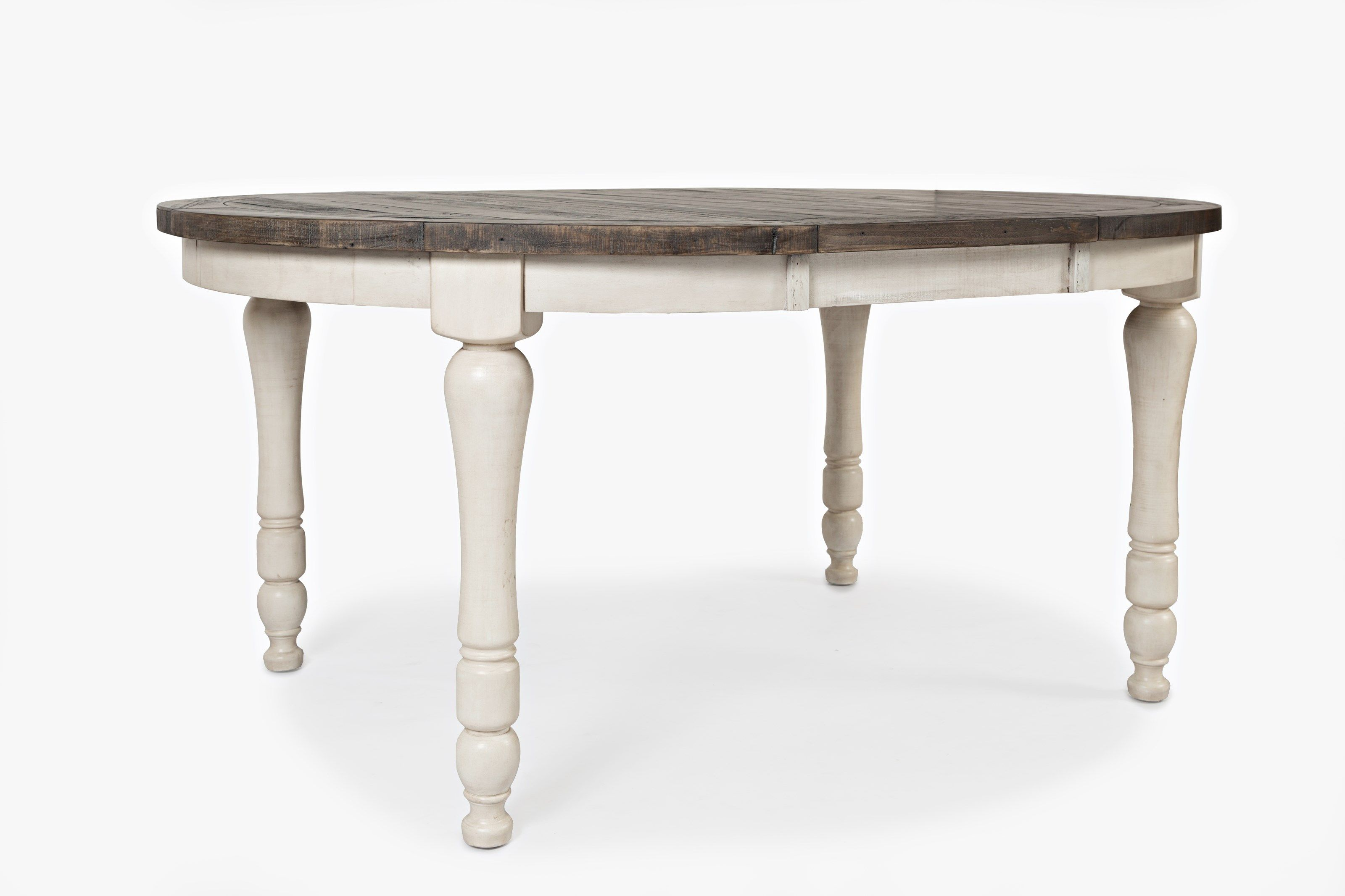Jofran Round To Oval Dining Table - Vintage White in 2020 ...