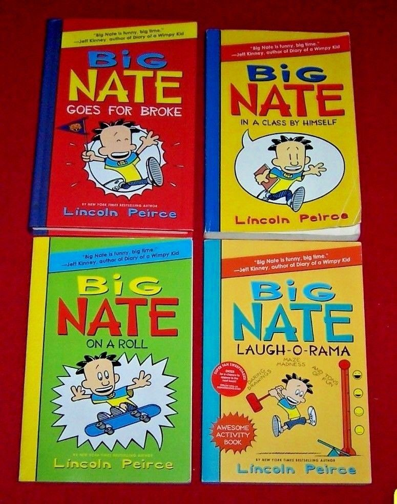 4 big nate childrens books lincoln peirce in a class by