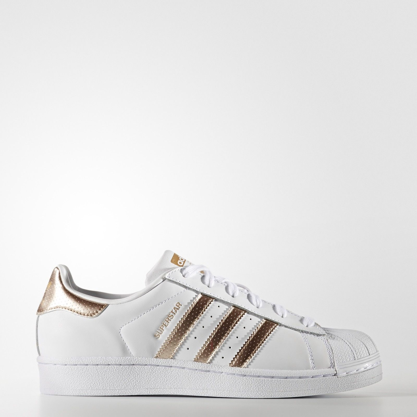 f2772ce637a6 ... where to buy womens adidas superstar rose gold copper white black shell  toes original bb1428 07381