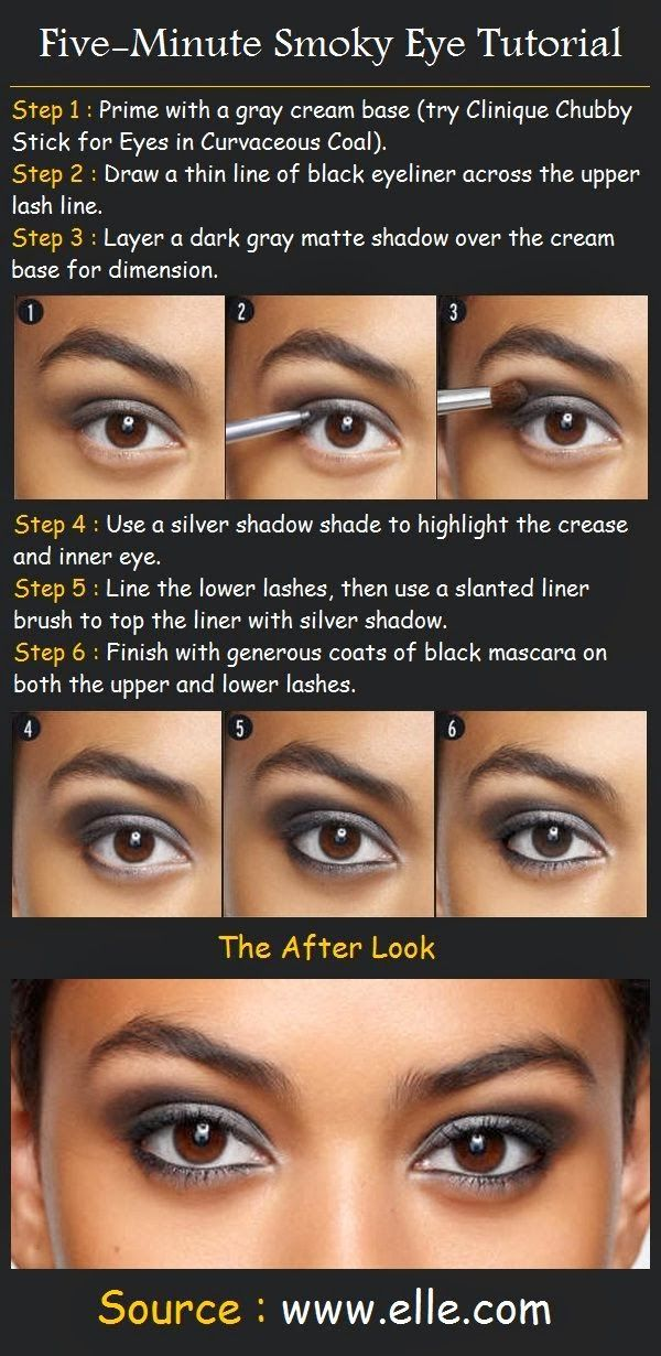 Five Minute Smoky Eye Tutorial Beauty Tutorial Eyes Pinterest