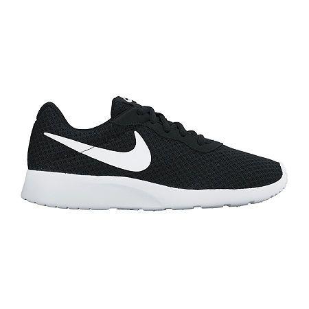 NIKE TANJUN Women's Sports Casual Shoes Grey White Black