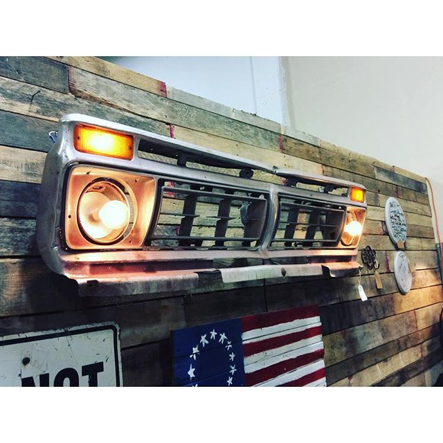 1975 Ford F-150 Grill Wall Art With Lights