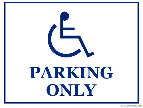 Priceless image for printable handicap signs