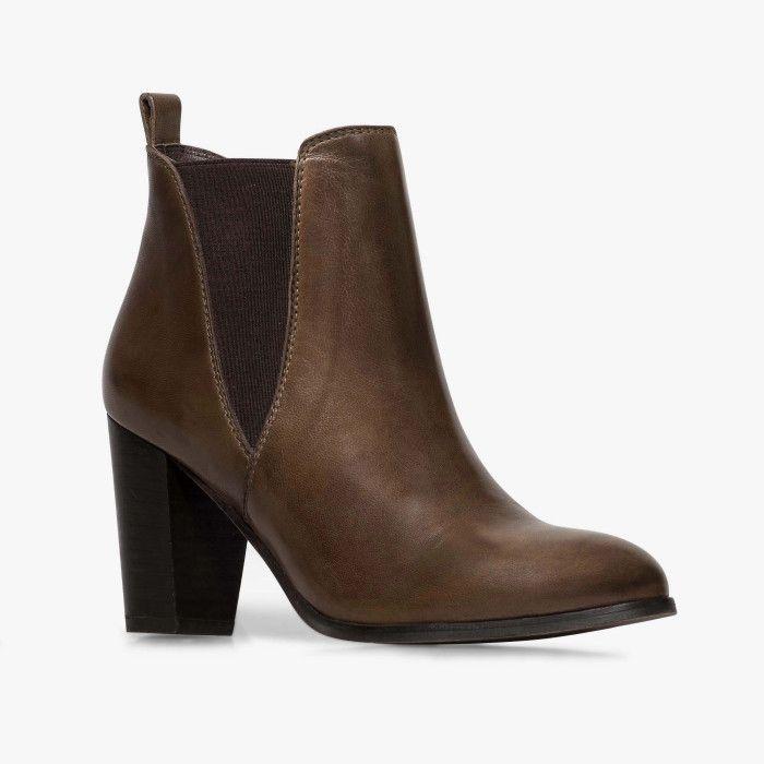 5fd7f9eae46 Chelsea boots talon marron BOCAGE 65
