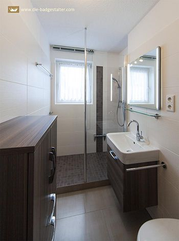 Schmales Kleines Bad Mit Dusche Gestalten