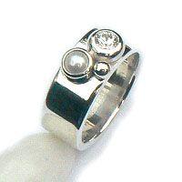 b2. Handgemaakte zilveren ring: Belize