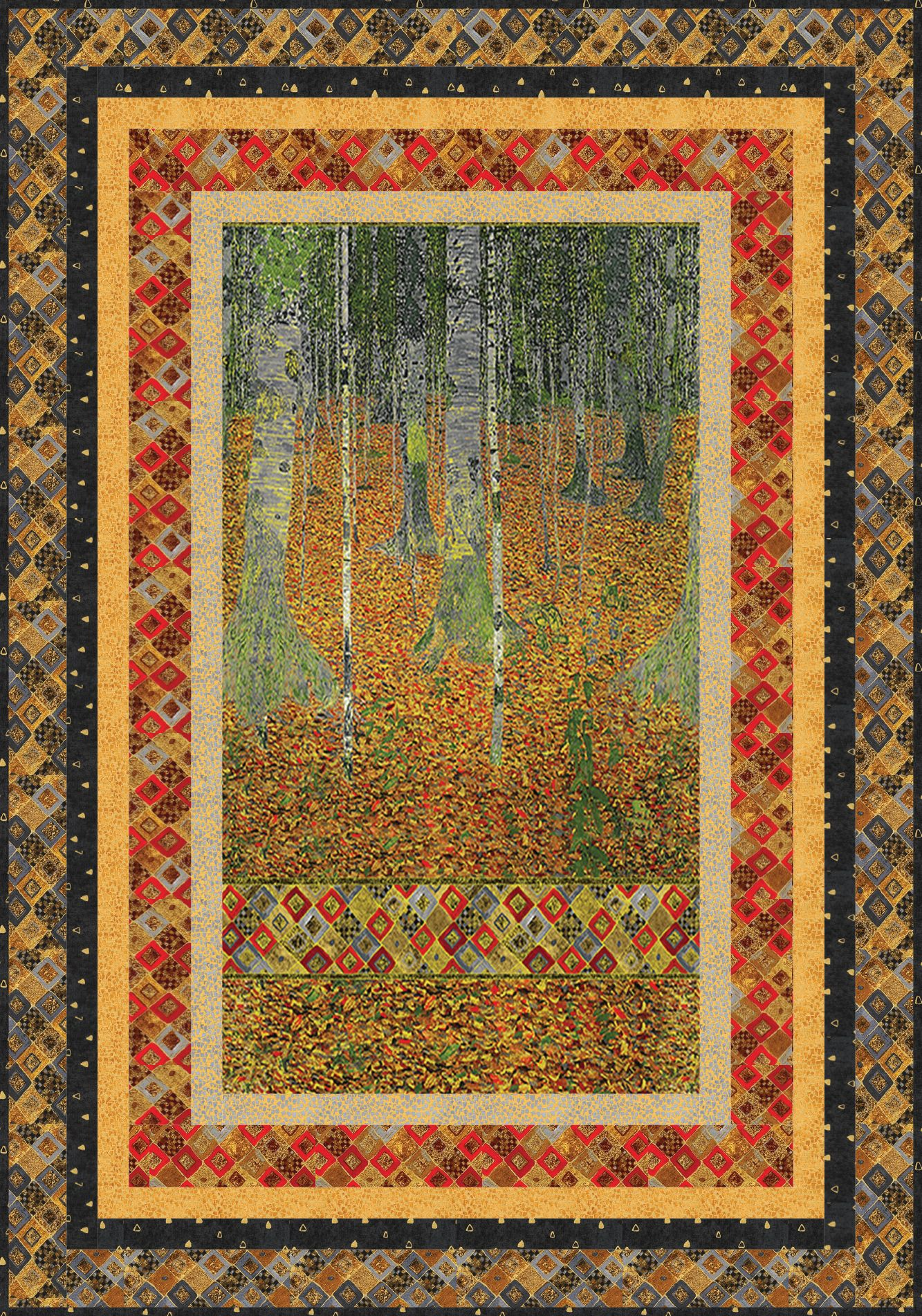 Free Pattern Picture Perfect Designed By Ariga Mahmoudlou For Robert Kaufman Features Gustav Klimt By Studi Robert Kaufman Fabrics Forest Quilt Panel Quilts