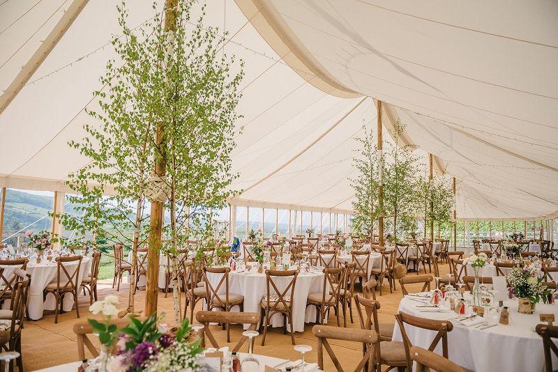 Simple And Elegant Wedding Venue Marquee Wedding Decoration