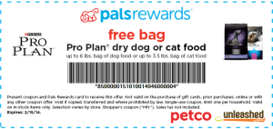 Petco Free Purina Pro Plan Dry Food For Cat Or Dog With Images Purina Pro Plan Dogs Cat Food Petco