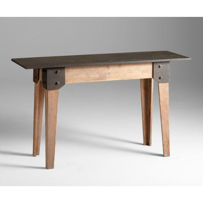 Cyan Design 04950 Mesa Console Table In Raw Iron/Natural Wood