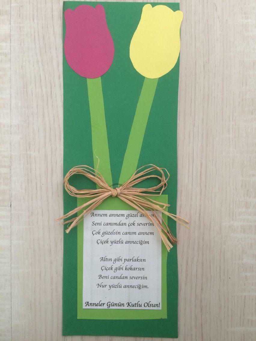 Anneler günü kartı okul öncesi. Happy mothers day card preschool ...