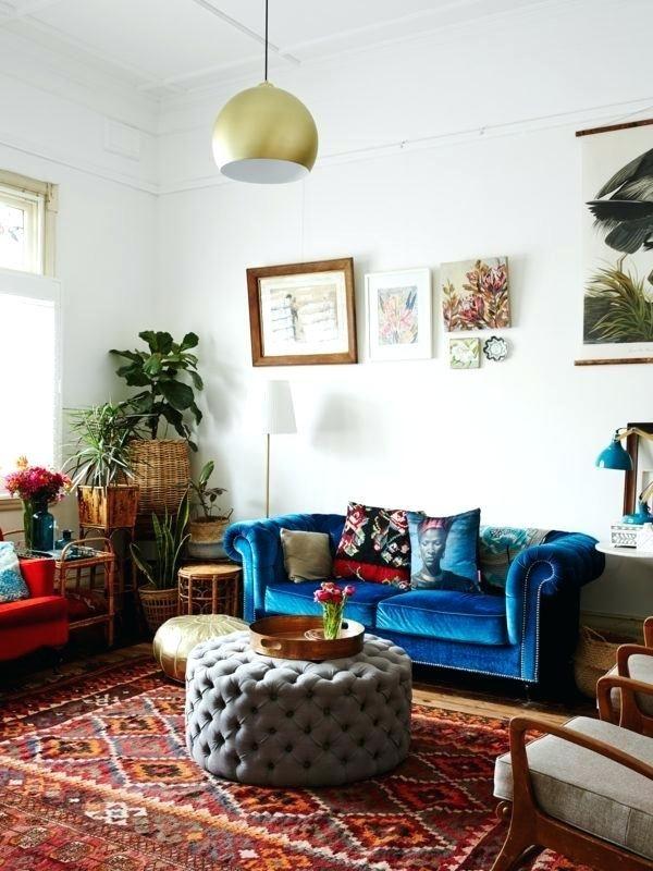 Blaues Velvet Sofa Wohnzimmer HOME Pinterest Living rooms and Room