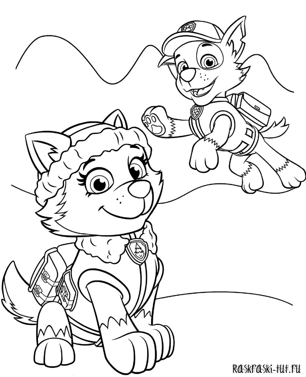 Готовые рисунки для раскрашивания героев мультфильмов щенячий патруль винкс