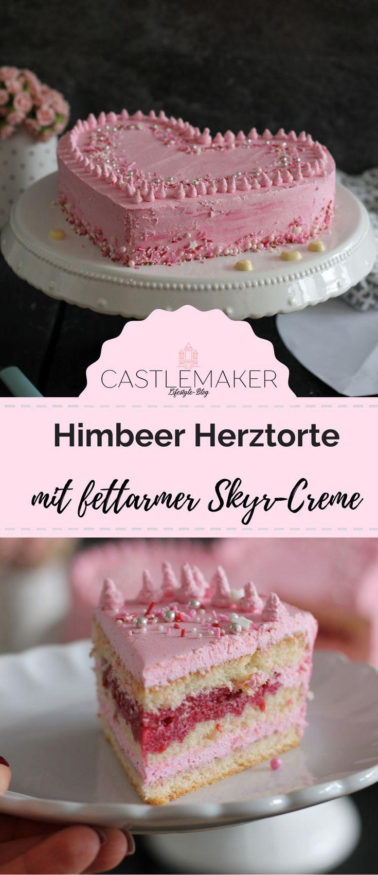 Schnelle Herztorte für den Valentinstag / Muttertag mit fettarmer Skyr-Creme « CASTLEMAKER Lifestyle Blog