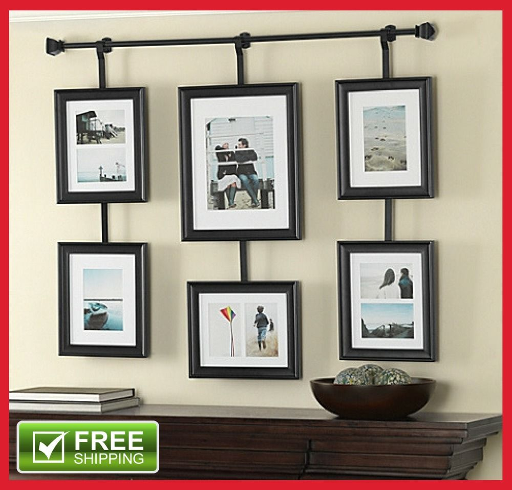 6 Opening Collage Picture Photo Frame Set Black Gallery Wall Art