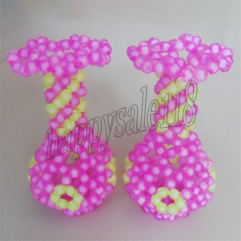 2PCS beaded Flower Vase HolderHome/desktop/centerpiece Beadwork Artistic Decor