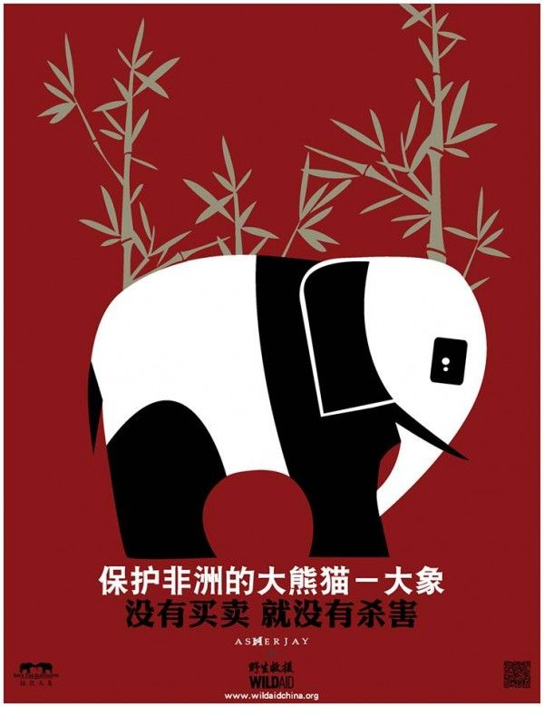 Asher Jay compares the plight of African elephants to that of the panda, to help Chinese audiences appreciate the dire situation that faces the pachyderms today, USA, 2013