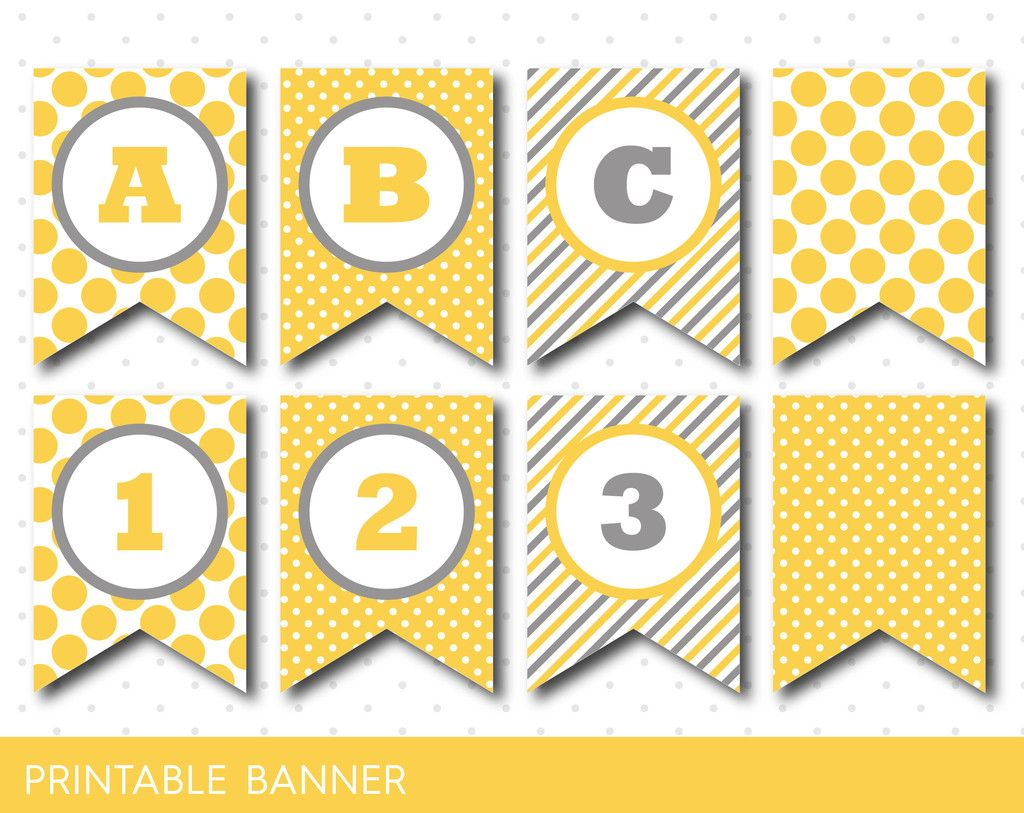 yellow banner  party banner  birthday banner  baby shower
