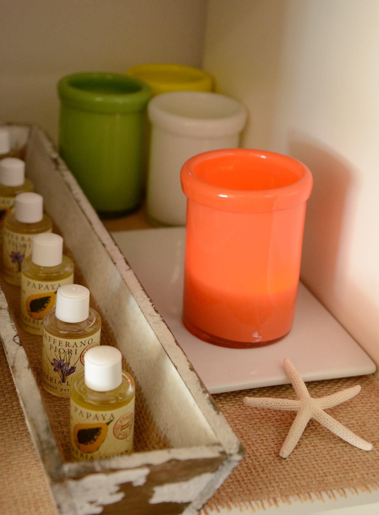 Porta candela in vetro Gocce di profumo per effusori