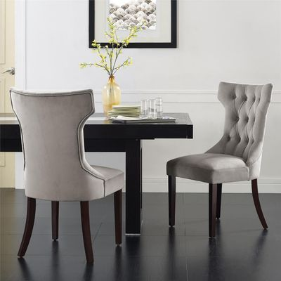 Clairborne Taupe Tufted Dining Chair Set of 2   Dorel ...