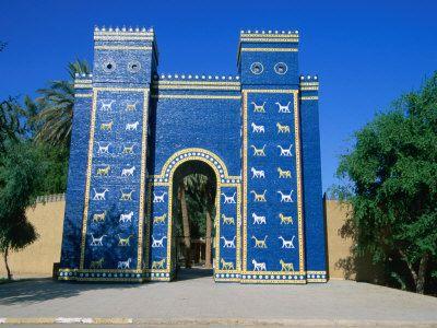 Reconstructed Ishtar Gate Babylon Babil Iraq Photographic Print Jane Sweeney Art Com Ishtar Babylon Babylon Iraq