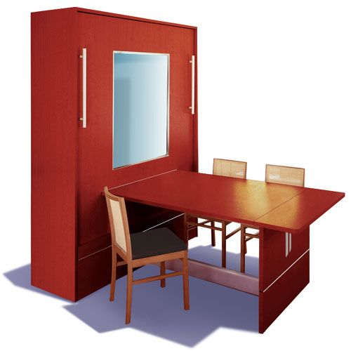 Table To Murphy Bed: Invest In This Ingenious Idea   A Full Sized Work Space